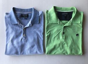 Men-039-s-Lot-de-2-BANANA-REPUBLIC-manches-courtes-Polo-shirts-Occasion-Taille-XL