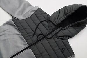 Reebok-Crossfit-Gris-Noir-Homme-Zip-Complet-Performance-Athletique-Sweat-A-Capuche-SM