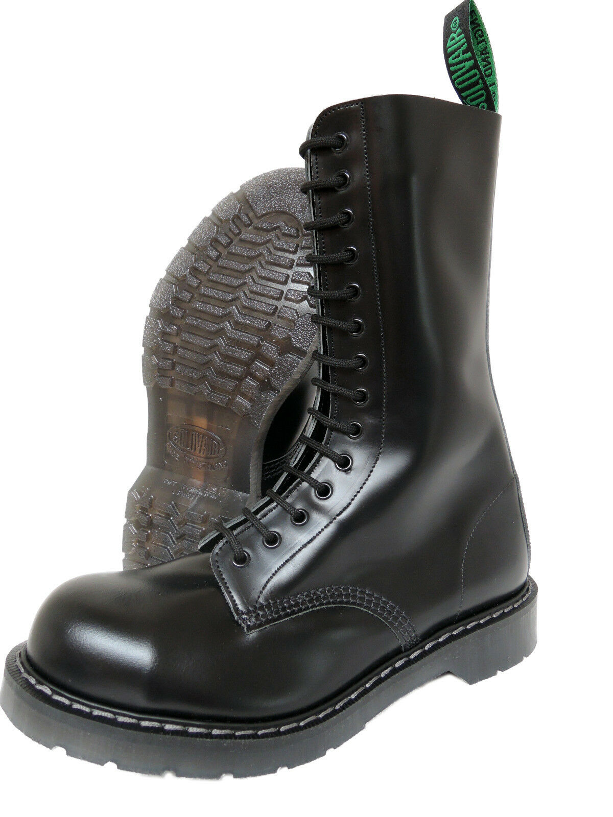 Solovair NPS Hand Made Toe in England Black Steel Toe Made Boots Stiefel Schwarz 07db95