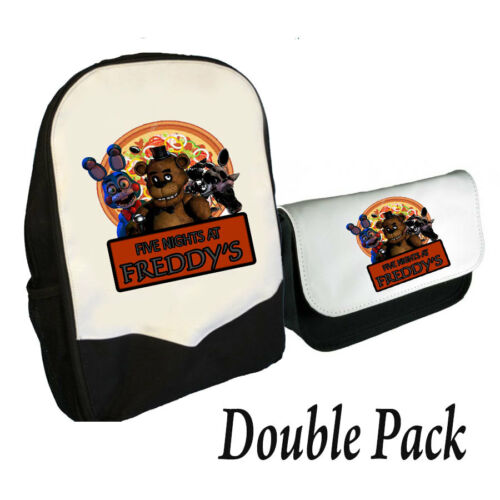 BMS FIVE NIGHTS AT FREDDY/'S BACKPACK AND PENCIL CASE DOUBLE PACK FREDDY PIZZA