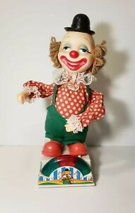 Vintage-Musical-Dancing-Clown-Creepy-Hands-Red-Green-Lights-Up-3-Blind-Mice