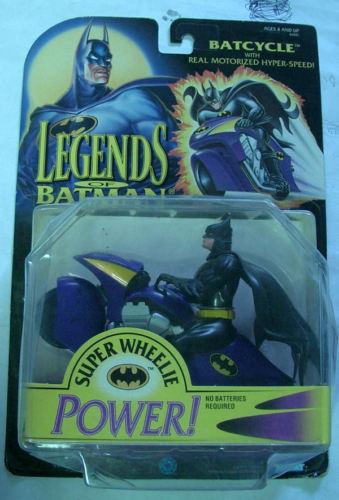 Legenden von batman mit batcycle kenner 1994 moc - blisterpackung