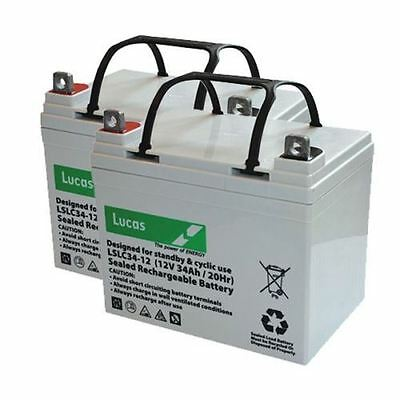 Shoprider Sovereign 4 Mobility Batteries x 2 - VAT FREE LISTING