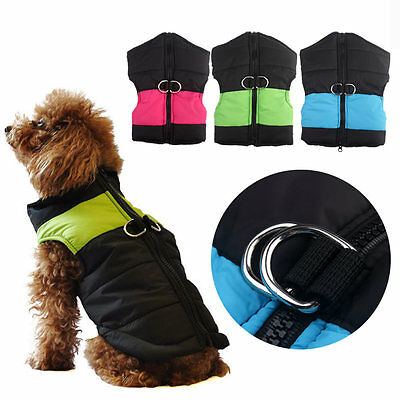 Small Waterproof Pet Dog Puppy Coat Jacket Winter Quilted Padded Puffer