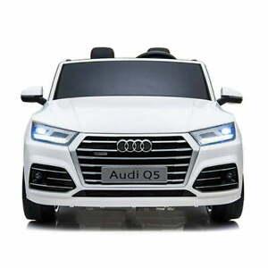 AUTO-MACCHINA-ELETTRICA-PER-BAMBINI-Audi-Q5-12v-2-POSTI-CON-TV-ARIA-CONDIZIONATA