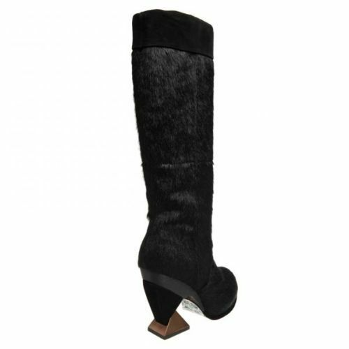 IRREGULAR CHOICE Stiefel WILLS AND KATE BLACK PONY KNEE Stiefel CHOICE 10 FANCY DESIGNER 7ad222