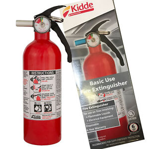 Details about KIDDE DRY CHEMICAL FIRE EXTINGUISHER Home Car Auto Garage  Kitchen Safety 5-B:C