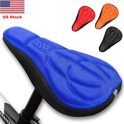 US Comfort Cycling Bike Bicycle Silicone Gel Pad Seat Saddle Cover Soft Cushion