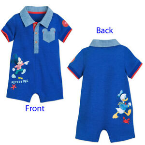 DISNEY DONALD DUCK BABY ONE PIECE SIZE 0//3 3//6 6//9 MONTHS NEW!
