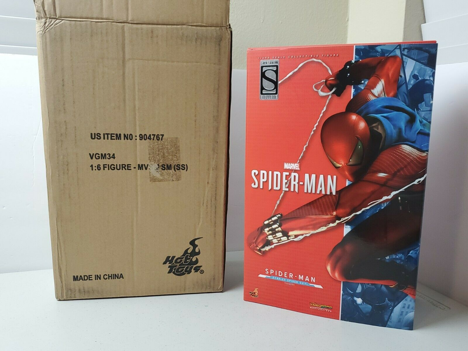 Hot Toys Marvel's Spider-Man Scarlet Spider Suit 1/6th VGM34 - USA Seller! on eBay thumbnail
