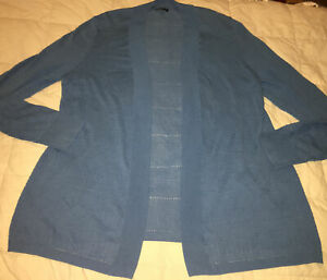 Womens-Talbotd-Blue-Light-Weight-Ipen-Front-Jacket-Size-Large