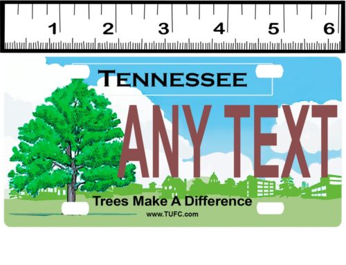 CUSTOM PERSONALIZED ALUMINUM BICYCLE MINI STATE LICENSE PLATE-TENNESSEE TREES