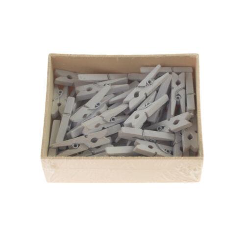 Mini Wooden Clothespins 50-Count