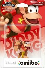Nintendo Amiibo Diddy Kong Character Figure Super Smash Bros Wii U 3DS Brand New