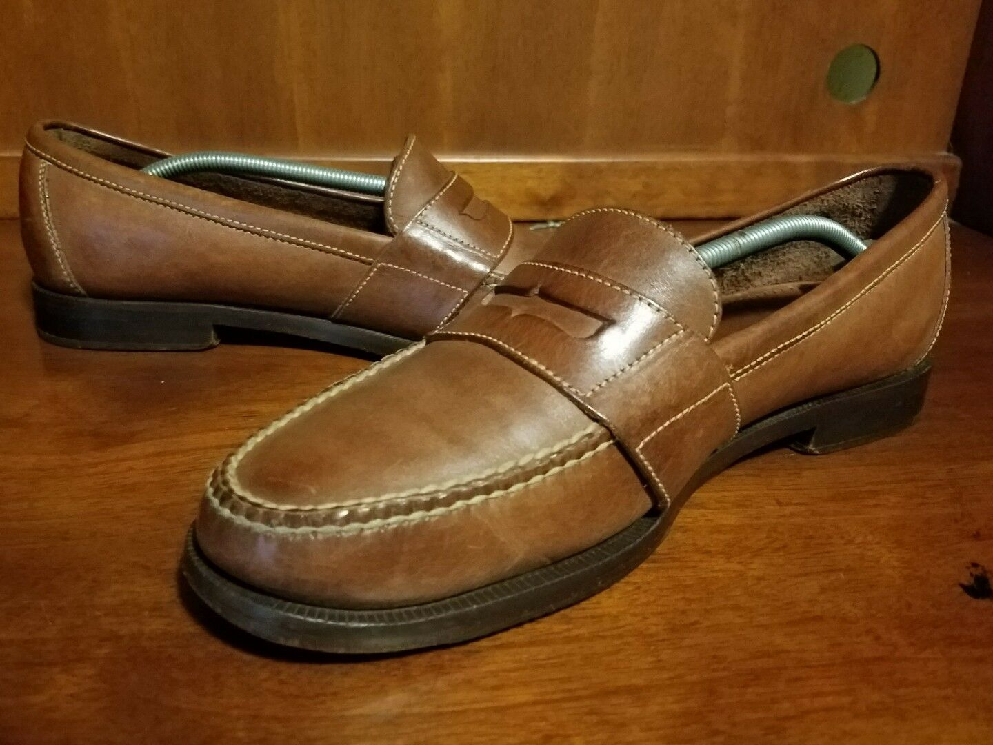 COLE HAAN Uomo Brown Penny 11 Loafers Pelle Shoes Size 11 Penny N **Narrow 6b0307
