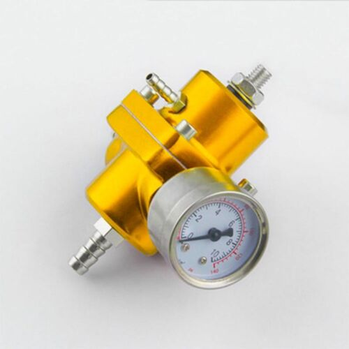 Premium Universal Adjustable Fuel Pressure Regulator Gauge JDM FPR 1:1 0-140 PSI