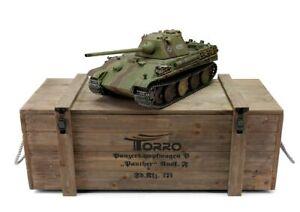 Torro 1/16 Rc German Ww2 Panther G & F Tank Rtr Metal Pro Edition Wooden Crate-afficher Le Titre D'origine
