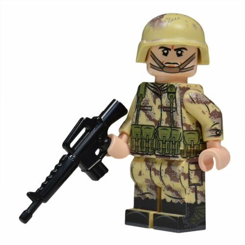Full Custom Printing NEW Lego Custom GULF WAR American Soldier minifigure