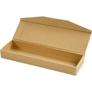 Image Is Loading Plain Pencil Case Box Vintage Style Storage