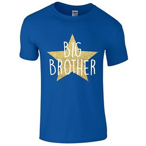 Boys-Gold-Glitter-Star-Big-Brother-T-Shirt-Printed-Pregnancy-Reveal-Gift-Present