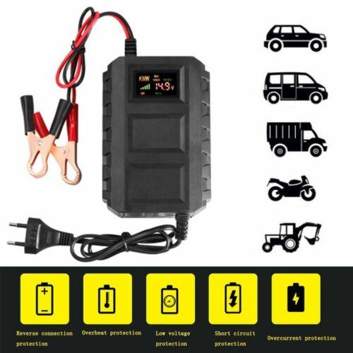 Intelligent 12V 20A Automobile Lead Acid Battery Charger Car Motorcycle US//EU//UK