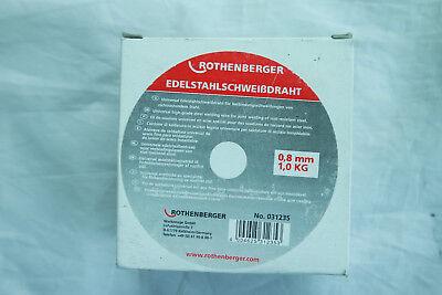 Rothenberger Schweißdraht Edelstahl 0,8 mm 1 kg EDELSTAHLSCHWEIßDRAHT
