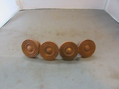 "4 VTG Antique Salvaged Brass Knobs Cabinet Dresser Drawer Colonial 1.5/"" Lot of"