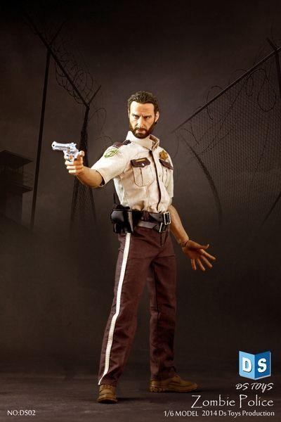 1/6 dstoys Walking Dead Man Zombie policía Figura De Acción De Juguete De Colección Modelo