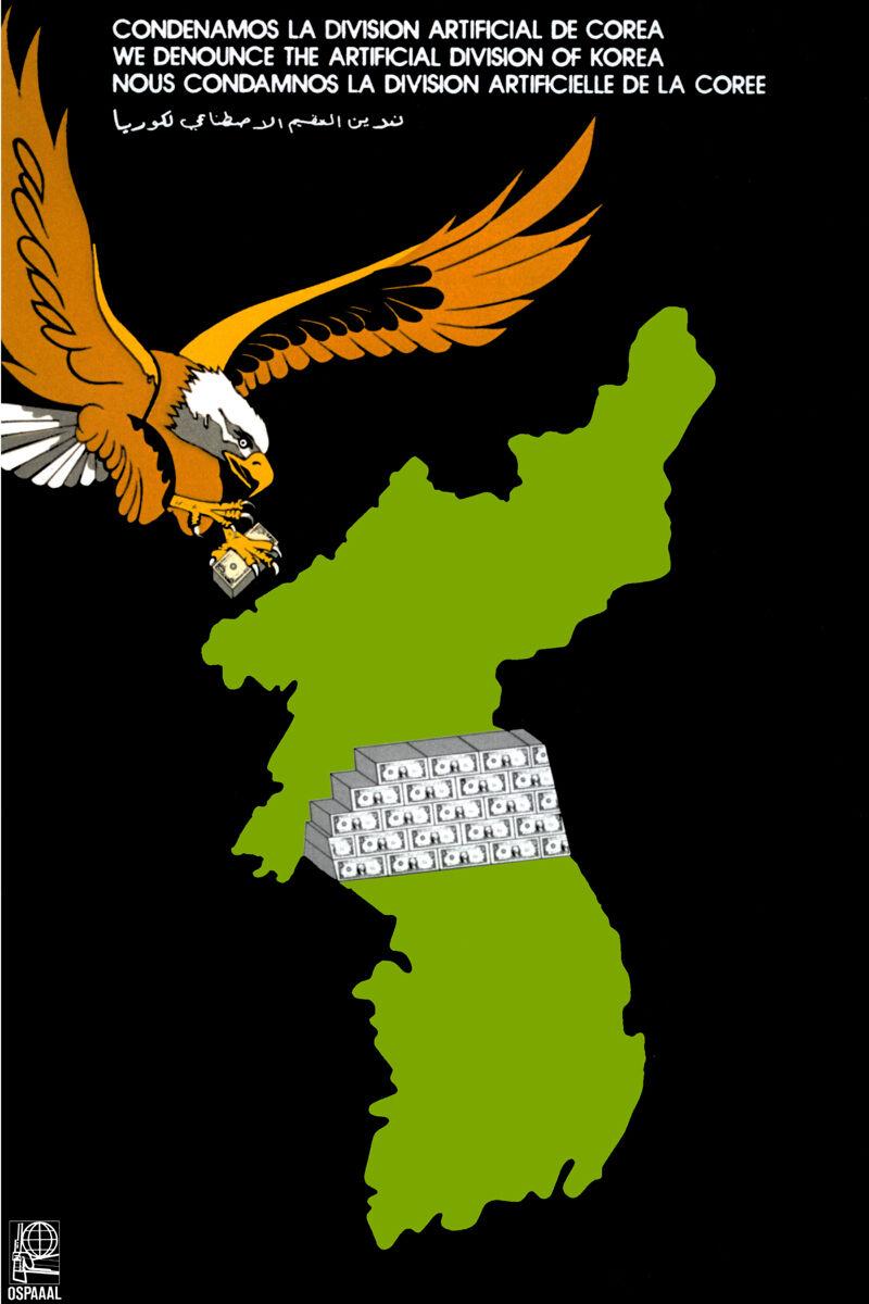 16x20 Decoration CANVAS.Room political design art.Divided Korea.Eagle.6557