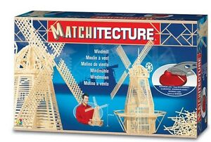 Matchitecture-6621-Windmill-Matchstick-Model-Wooden-Kit-Tracked-48-Post