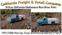 1975 Ford Pickup W/utility Bed Kit (1 Kit) N/nn3/1:160 California Freight