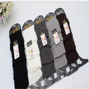Winter-Women-039-s-Leg-Warmers-Long-Elastic-Crochet-Knit-Knee-Legging-Socks-UA