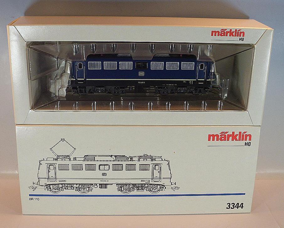 h0 3344 E-Lok BR 110 249-0 blu della DB 2 ~ alimentazione CA OVP  8546