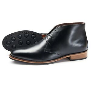 Samuel-Windsor-Men-039-s-Leather-Rubber-Sole-Derby-Chukka-Ankle-Boots-UK-Size-5-14