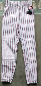 Image is loading Wilson-Red-Striped-Baseball-Pants-Small-S 36a9d0b44627