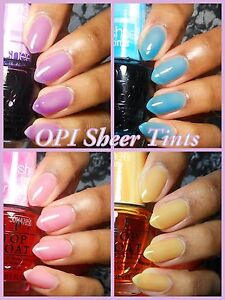 OPI **SHEER TINTS** Color Collection Nail Polish Lacquer Pink Blue ...