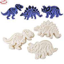3pcs Dinosaur Cookie Cutter Biscuit Pastry Fondant Cake Decor Mold Mould Tool