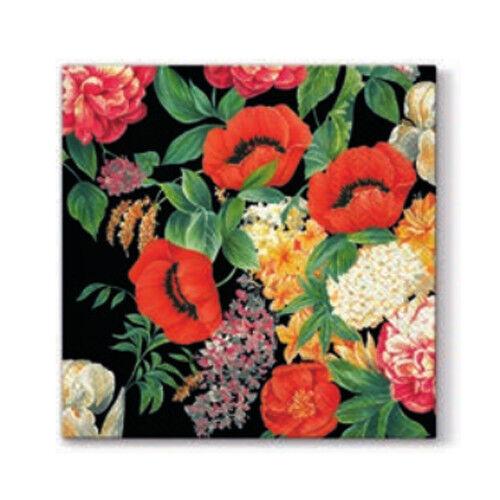"""33x33cm /""""Nostalgic Bouquet/"""" Decoupage Pack of 20 paper napkins 3ply"""