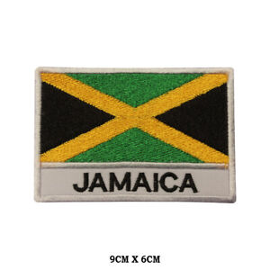 JAMAICA-National-Flag-Embroidered-Patch-Iron-on-Sew-On-Badge-For-Clothes-etc