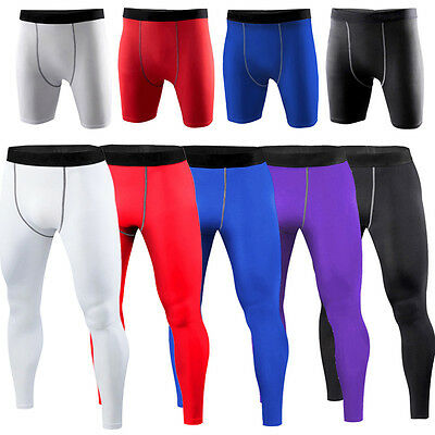 Mens Football Basketball Under Compression Pants Base Layers Tights Plus Size Ebay