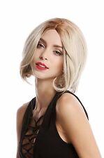 Perruque Pour Femme Longbob Bob court courbure Affiler Blond Raie au milieu