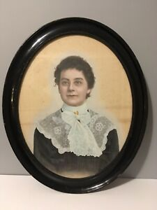 Portrait Victorian Woman Oil Painting Johanne Agerskov Danish Medium?