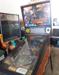 USA-Data-East-Maverick-PINBALL-machine-flipper-dual-arcade-game-cowboy-rare