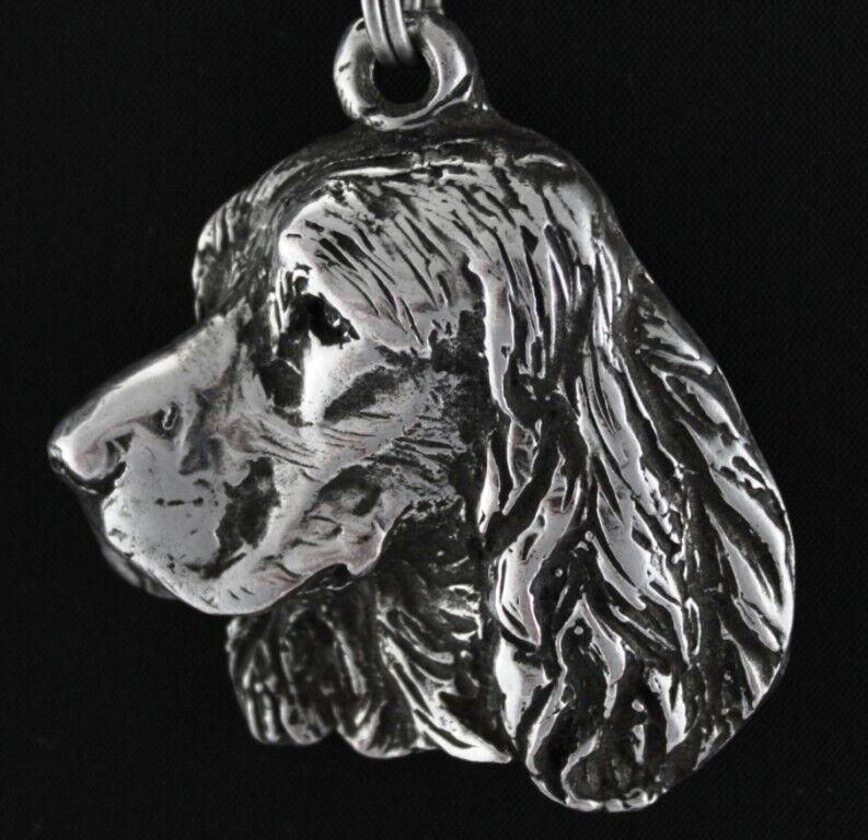 Springer anglais - Silber plaqué collier sur une cordon en en en Silber Art Dog FR fbfd66