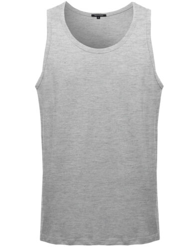 ONLY $4.99! FashionOutfit Men/'s Casual Basic Solid COTTON Sleeveless Tank Top