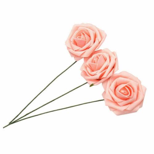50x 8cm Schaum Rosen Künstliche Blumen Rosenköpfe Rosenblüten Hochzeit Deko