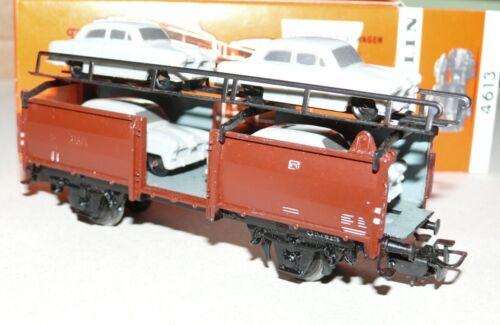 H21   Märklin  4613 Autotransportwagen Ford 12 m grau