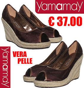 yamamay scarpe zeppe in vera pelle nr 36