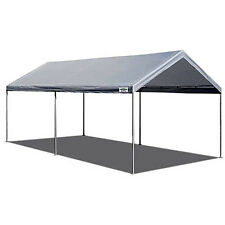 Steel Frame Canopy 10 x 20 Shelter Portable Carport Car Garage Cover  sc 1 st  eBay & Steel Frame Canopy 10 X 20 Shelter Portable Carport Car Garage ...