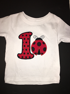 LadyBug Birthday Shirt 1st 3rd 2nd 5th Personalized Keepsake CUTE 4th